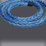 Blue Dyneema in a coil