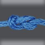 Blue Dyneema in a knot