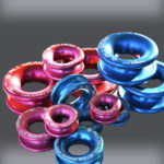 Red & Blue Pile of Rings