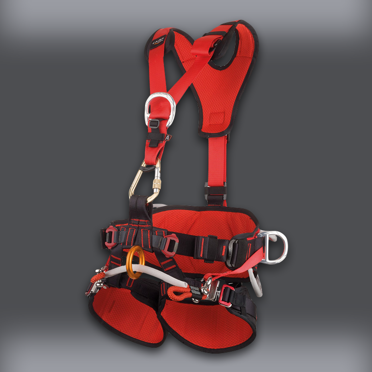 CAMP Tree Access Evo Climbing Saddle with GT Chest Harness - front