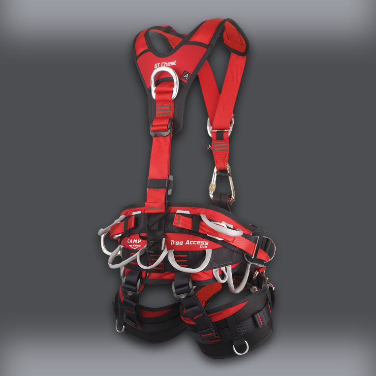CAMP Tree Access Evo Climbing Saddle with GT Chest Harness - back